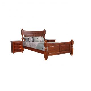 Bellevue Carved Panel King Bed