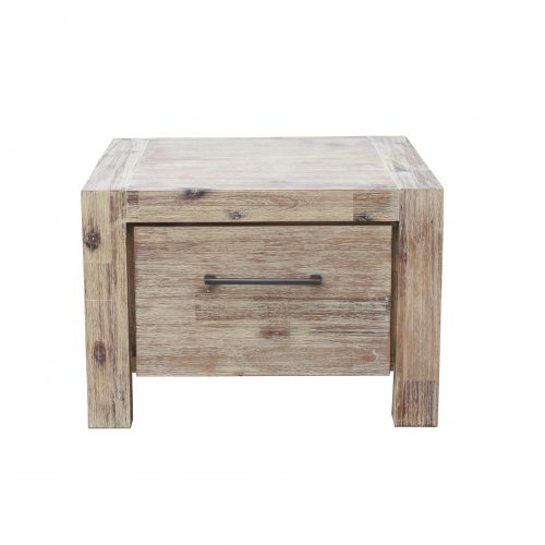 Anatto Lamp Table with Drawer