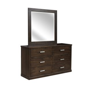 Greenhill Dresser + Mirror - Mocha