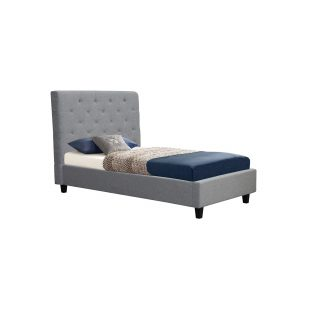 Hillary Tufted King Single Bed- Fabric