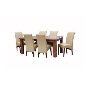 Bingara 7 PCE Dining + 6 PU Miller Chairs