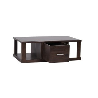 Greenhill Coffee Table with Drawer - Mocha