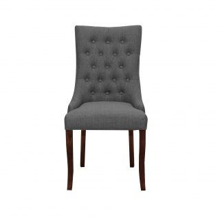 Jasper Fabric Chair in Graphite Grey with Dark Walnut Legs