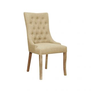 Jasper Fabric Chair in Bristle Beige with Aged Oak Legs