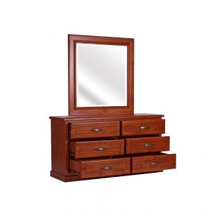 Victoria- Dresser and Mirror (open)