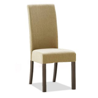 Cooper Fabric Chair in Bristle Beige with Dark Walnut Legs