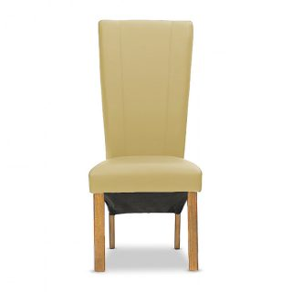 Carter 100% Leather Chair in Saddle with Aged Oak Legs