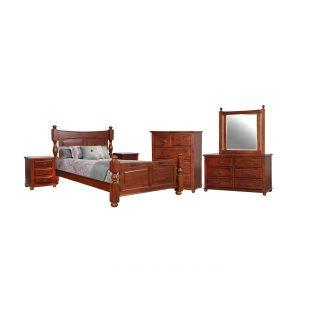 Bellevue Carved Panel King Bedroom Suite