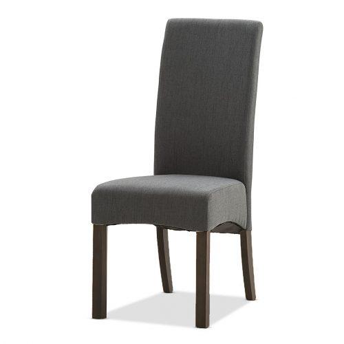 Cooper Fabric Chair in Graphite Grey with Dark Walnut Legs