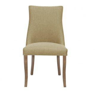 Hudson Fabric Chair in Bristle Beige with Aged Oak Legs