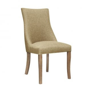 Hudson Fabric Chair in Bristle Beige with Aged Oak Legs