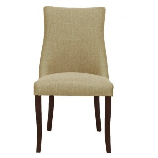 Hudson Fabric Chair in Bristle Beige with Walnut Legs