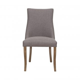 Hudson Fabric Chair in Stone Grey with Aged Oak Legs