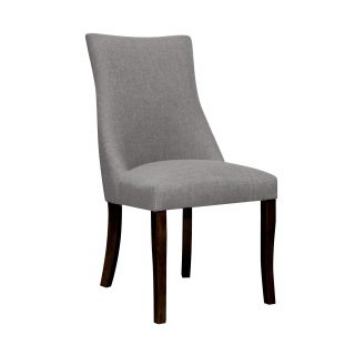 Hudson Fabric Chair in Stone Grey with Walnut Legs