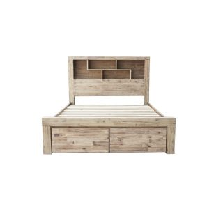 Anatto King Bookcase Headboard With 2 Drawers
